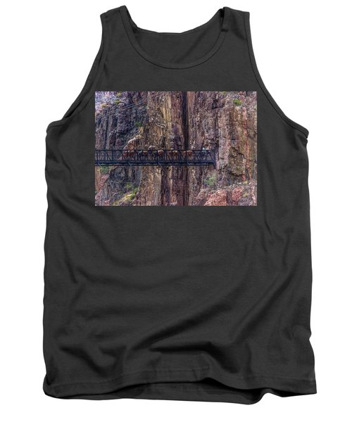 Mule Train On Black Bridge, Grand Canyon Tank Top