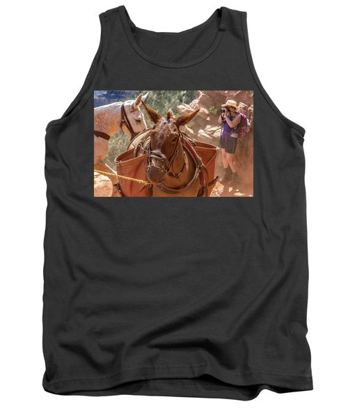 Mule Train On The South Kaibab Trail Tank Top