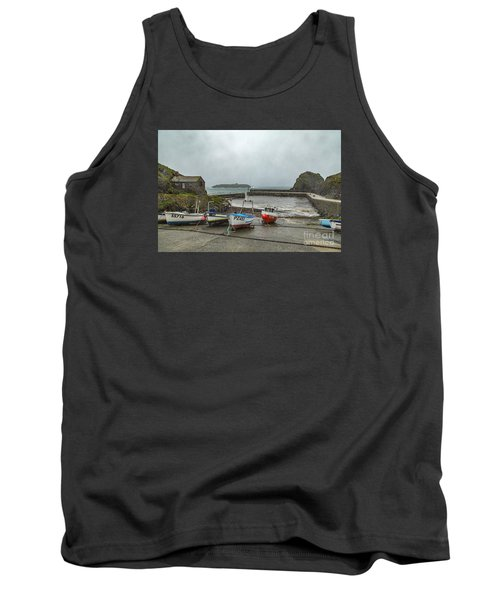 Tank Top featuring the photograph Mullion Cove Harbour by Brian Roscorla