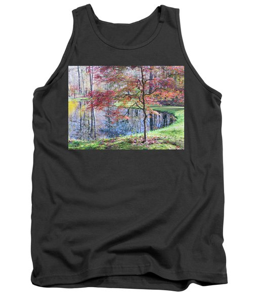 Multi Color Japanese Maple Tank Top