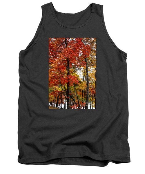 Multi-colored Leaves Tank Top
