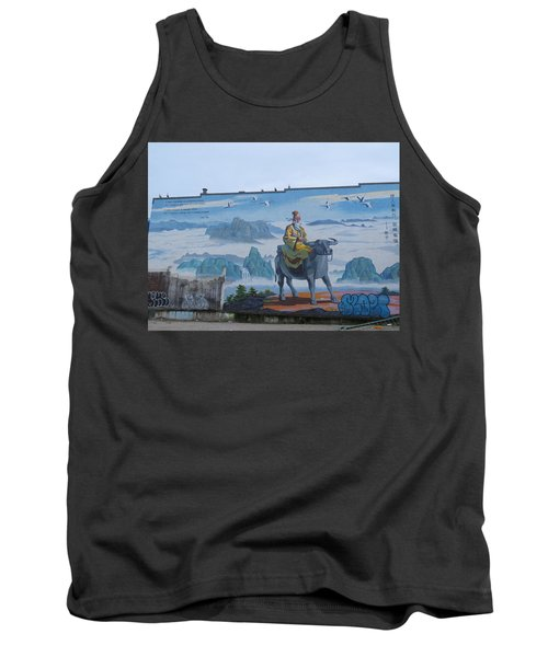 Mural In Chinatown Vancouver Tank Top