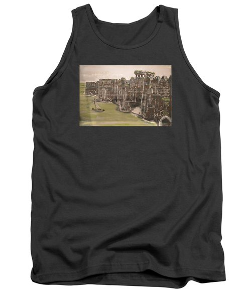 Tank Top featuring the painting Murud Janjira Fort by Vikram Singh