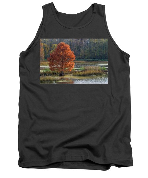 Tank Top featuring the photograph Muscatatuck - D009967 by Daniel Dempster