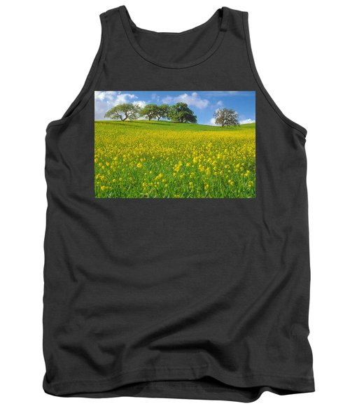 Tank Top featuring the photograph Mustard Field by Mark Greenberg