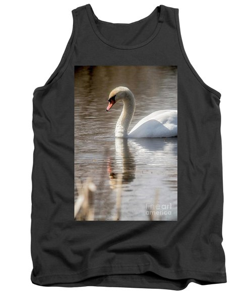 Tank Top featuring the photograph Mute Swan - 2 by David Bearden