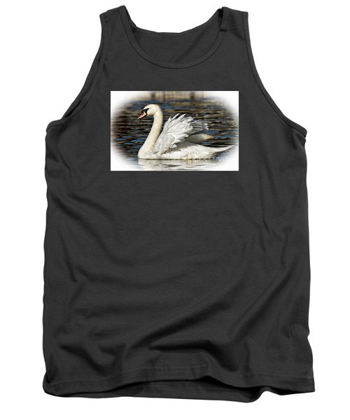 Mute Swan Tank Top by Kathy Baccari