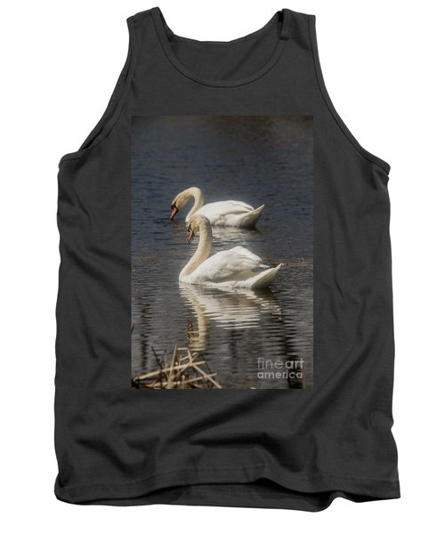 Tank Top featuring the photograph Mute Swans by David Bearden
