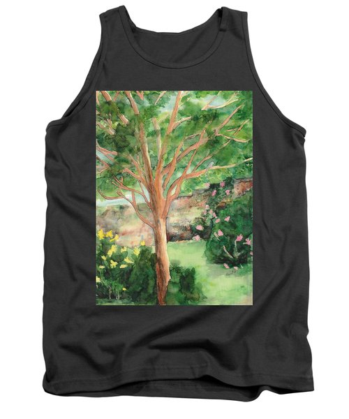 Tank Top featuring the painting My Backyard by Vicki  Housel
