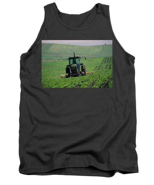 My Big Green Tractor Tank Top by Garry McMichael