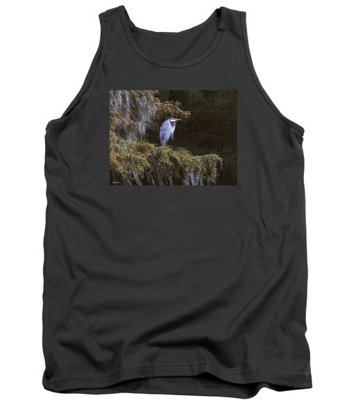 Tank Top featuring the photograph My Blue Heron by Phil Mancuso