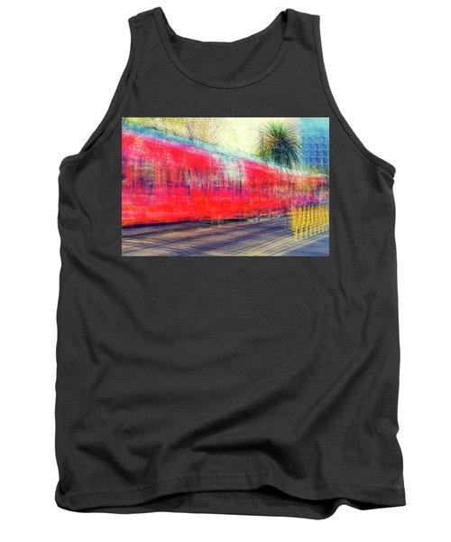 My City's Got A Trolley Tank Top by Joseph S Giacalone