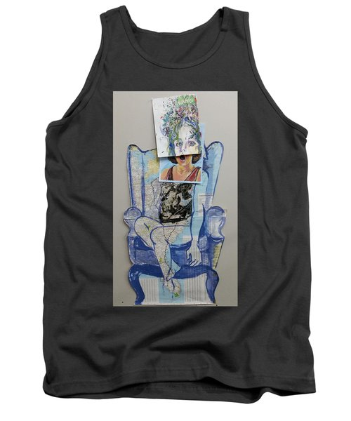 Tank Top featuring the painting My Foot Is In Miami by Tilly Strauss