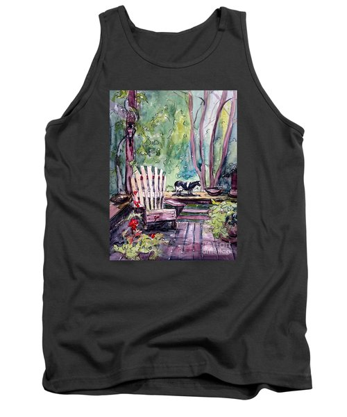 Tank Top featuring the painting My Front Porch by Gretchen Allen