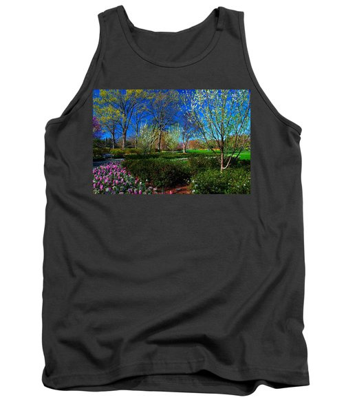 My Garden In Spring Tank Top by Diana Mary Sharpton
