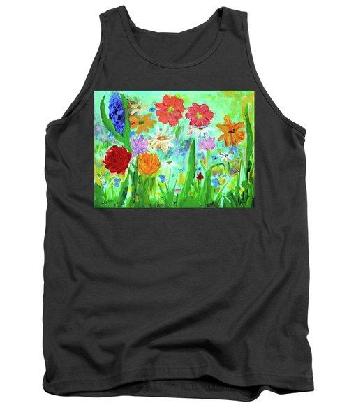 My Happy Garden 1  Tank Top by Haleh Mahbod