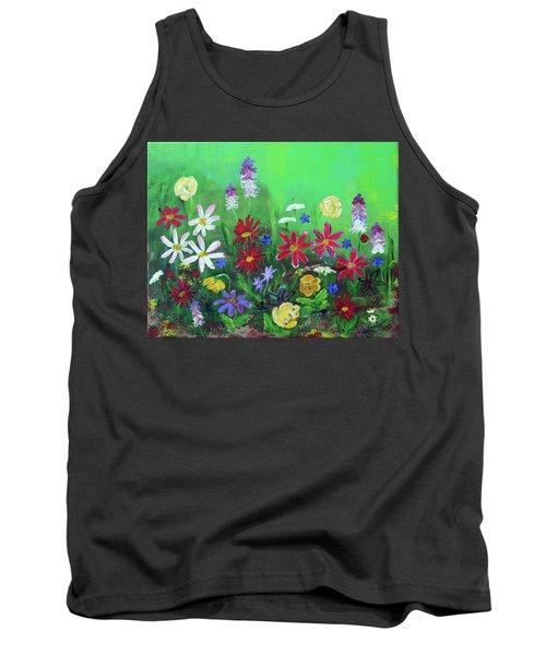 My Happy Garden 2 Tank Top by Haleh Mahbod