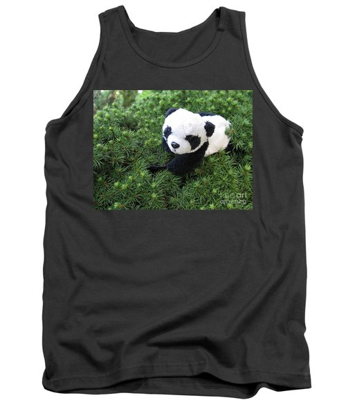 Tank Top featuring the photograph My Soft Green Bed by Ausra Huntington nee Paulauskaite
