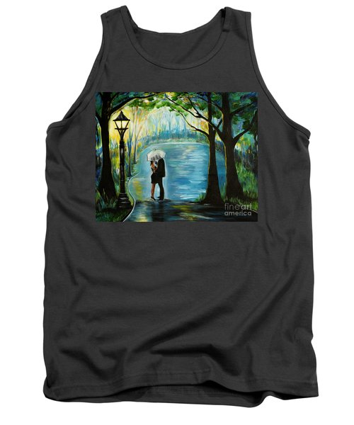 Tank Top featuring the painting My Soulmate by Leslie Allen
