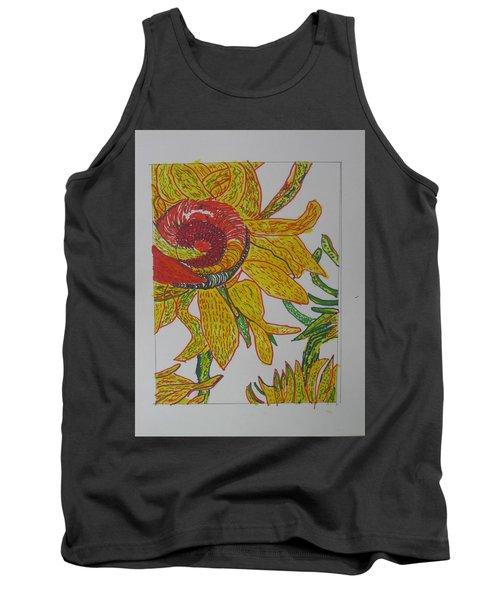 My Version Of A Van Gogh Sunflower Tank Top