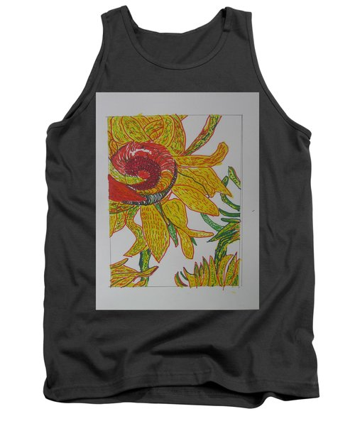 My Version Of A Van Gogh Sunflower Tank Top