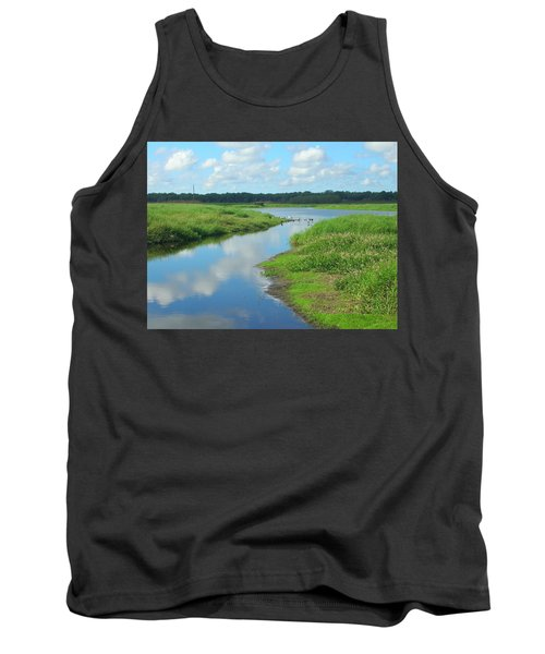 Tank Top featuring the photograph Myakka River Reflections by Emmy Marie Vickers