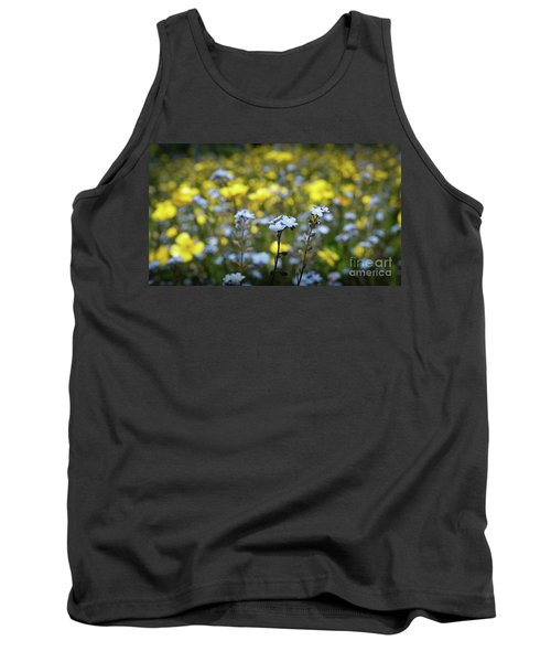 Myosotis With Yellow Flowers Tank Top