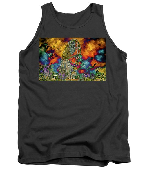 Myrtle Beach Skywheel Abstract Tank Top by Bill Barber