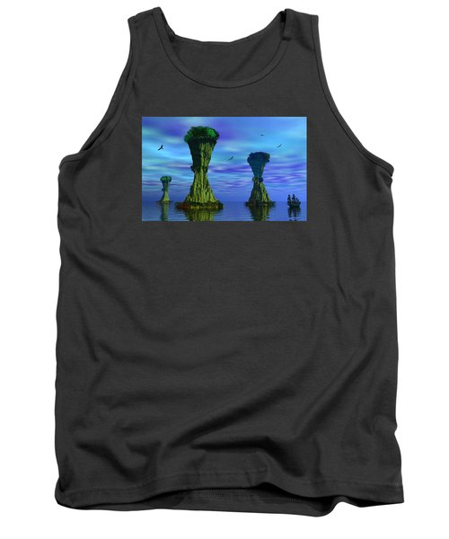Mysterious Islands Tank Top by Mark Blauhoefer