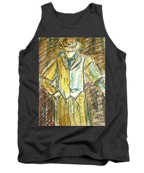 Tank Top featuring the painting Mystery Man by Cathie Richardson