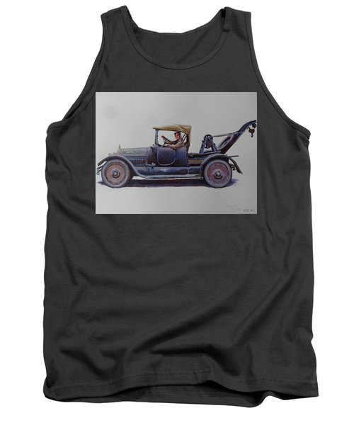 Tank Top featuring the painting Mystery Wrecker 1930. by Mike  Jeffries