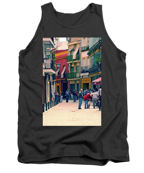 Tank Top featuring the photograph Triana On A Sunday Afternoon 1 by Mary Machare