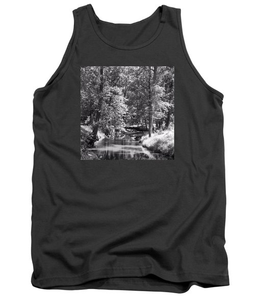 Tank Top featuring the photograph Nadine's Creek In Black And White by Kathy Kelly