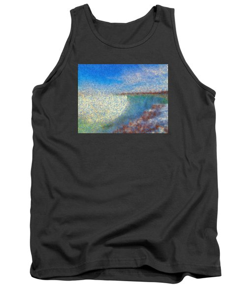 Tank Top featuring the painting Nagara Falls Point Of View by Mario Carini