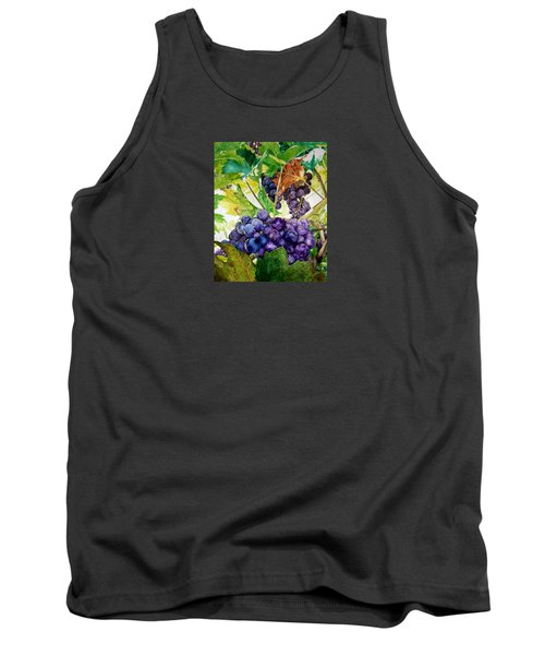 Tank Top featuring the painting Napa Harvest by Lance Gebhardt
