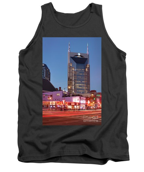Tank Top featuring the photograph Nashville - Batman Building by Brian Jannsen
