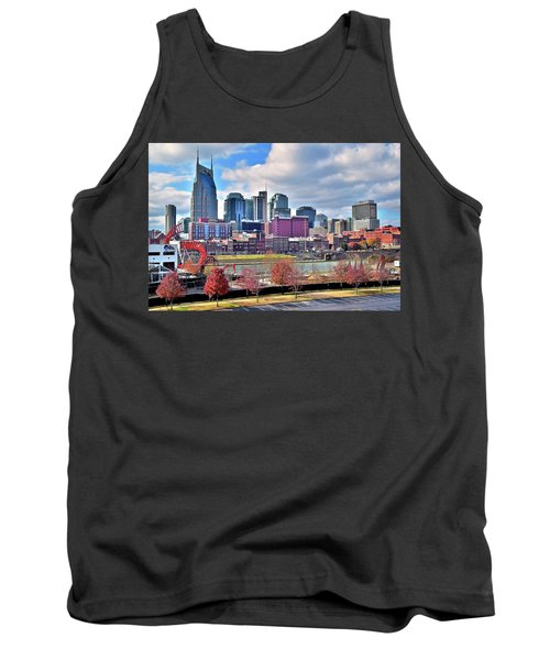 Tank Top featuring the photograph Nashville Clouds by Frozen in Time Fine Art Photography