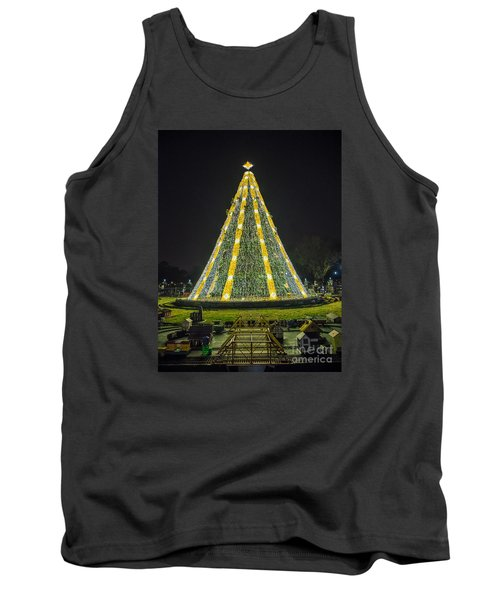 Tank Top featuring the photograph National Christmas Tree #1 by Sandy Molinaro