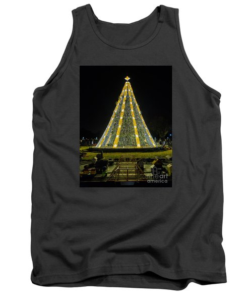 Tank Top featuring the photograph National Christmas Tree #2 by Sandy Molinaro