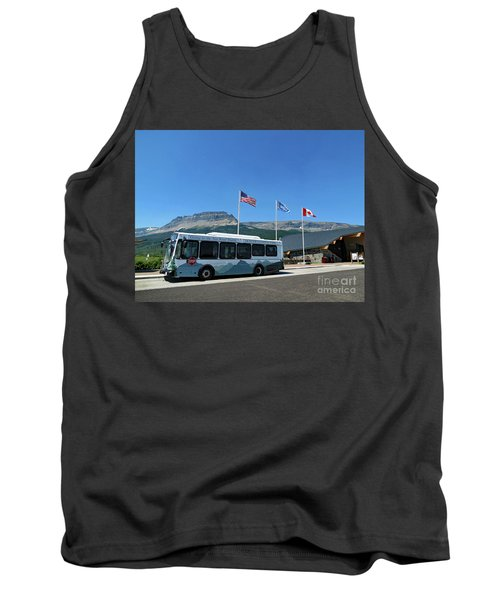 Tank Top featuring the photograph National Parks. St. Mary Visitor Center At Glacier by Ausra Huntington nee Paulauskaite