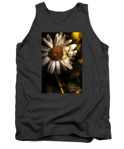 Nature Fine Art Summer Flower With Insect Tank Top