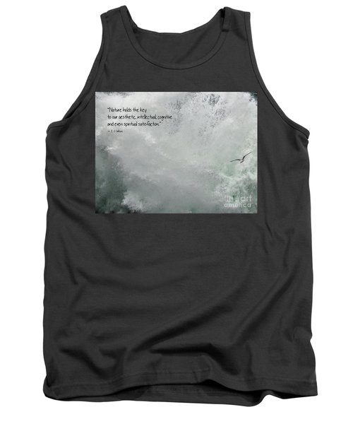 Tank Top featuring the photograph Nature Holds The Key by Peggy Hughes