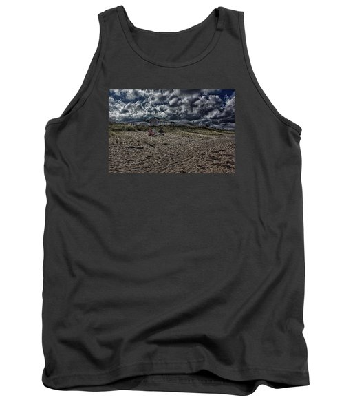 Tank Top featuring the photograph Nature Playing To An Empty Beach by Constantine Gregory