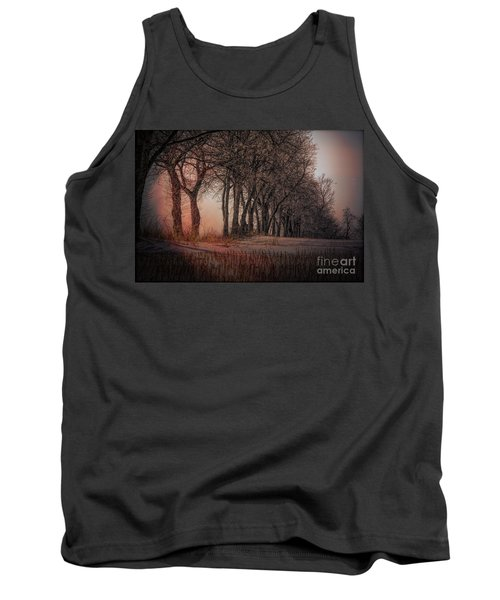 Nature Winter Bare Trees Color  Tank Top