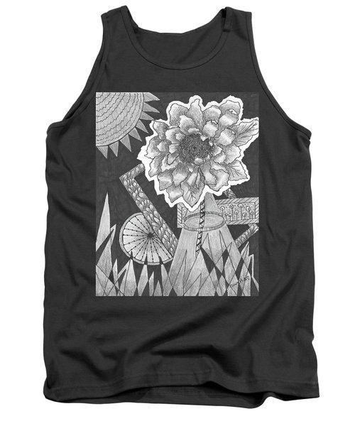 Naturemade And Manmade Shapes Tank Top by Quwatha Valentine
