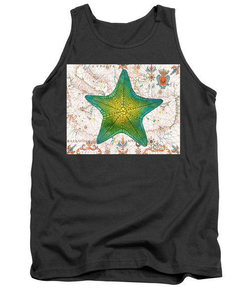 Tank Top featuring the painting Nautical Treasures-l by Jean Plout