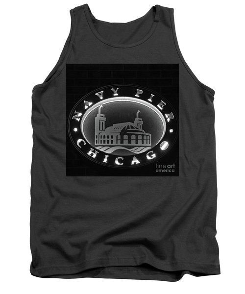 Navy Pier Chicago Sign Tank Top
