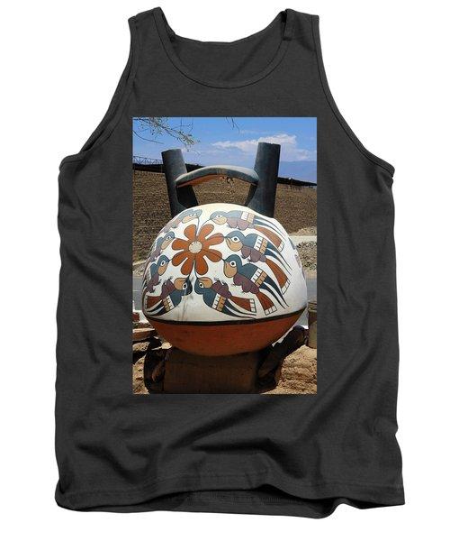Tank Top featuring the photograph Nazca Ceramics Peru by Aidan Moran