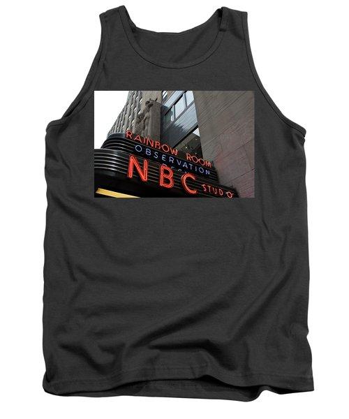 Nbc Studio Rainbow Room Sign Tank Top