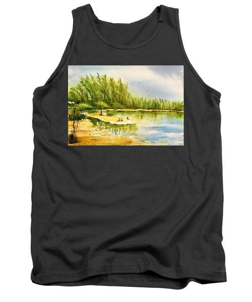 Near The Lake 4 Tank Top